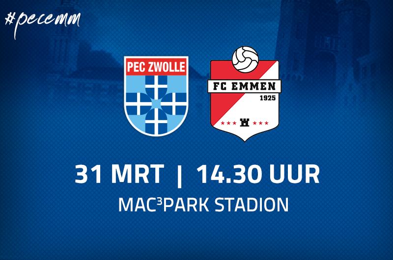 Afbeelding van PEC Zwolle - FC Emmen