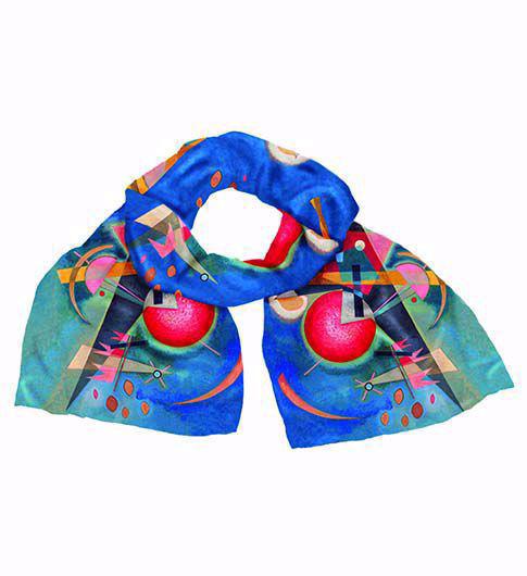 Afbeelding van Wassily Kandinsky Zijden sjaal 'In het blauw'
