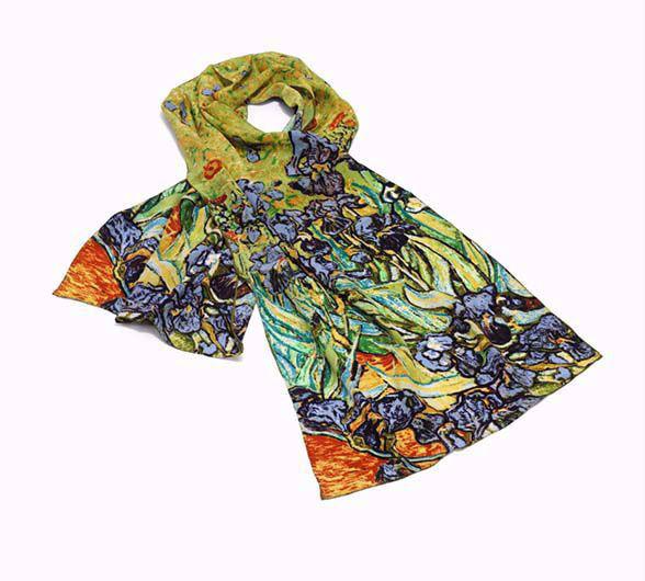 Afbeelding van Vincent van Gogh Zijden sjaal 'Irissen'