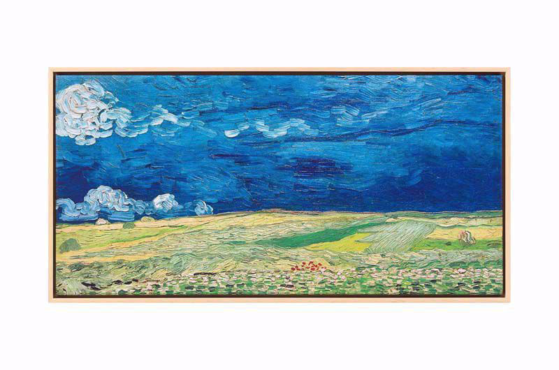 Afbeelding van Vincent van Gogh, Schilderij 'Korenveld onder onweerslucht'