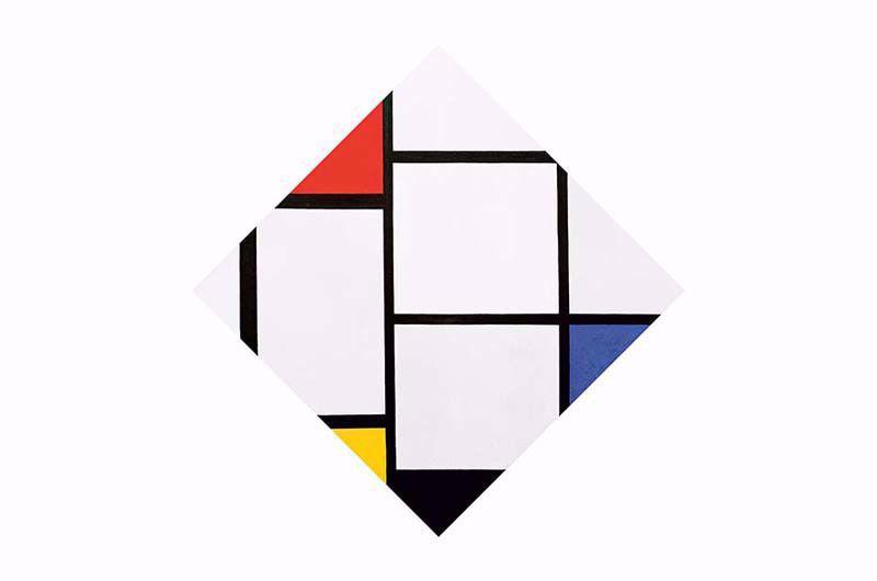 Afbeelding van Piet Mondriaan 'Tableau No. IV'