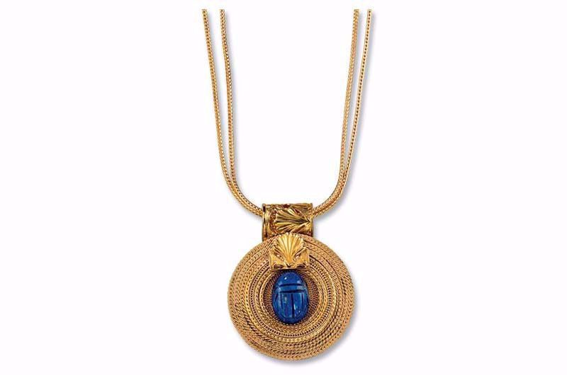 Afbeelding van Petra Waszak Collier 'Zonnewiel met lapis lazuli scarab'