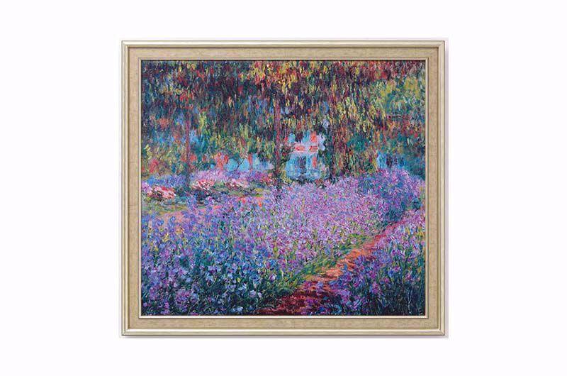 Afbeelding van Claude Monet - Irisbeet in de tuin van Monet