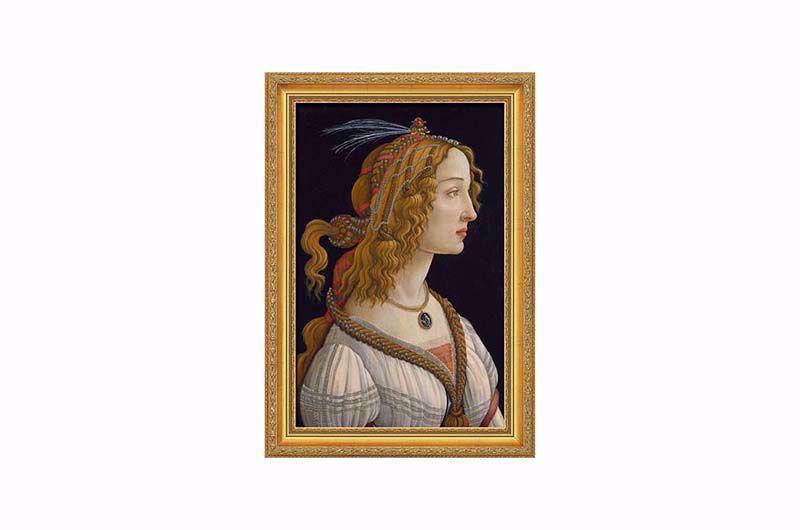 Product afbeelding: Sandro Botticelli 'Portret van een jonge vrouw'