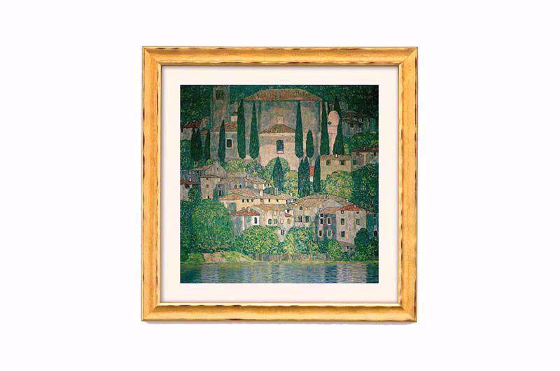 Afbeelding van Gustav Klimt 'Kerk in Cassone aan het Gardameer'