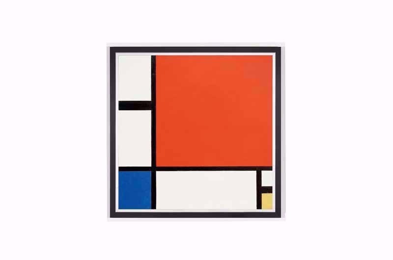 Afbeelding van Piet Mondriaan - Compositie in rood, blauw en geel