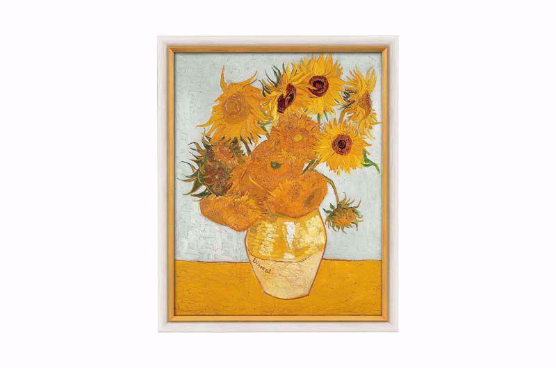 Afbeelding van Vincent van Gogh Schilderij 'Vaas met de twaalf zonnebloemen'