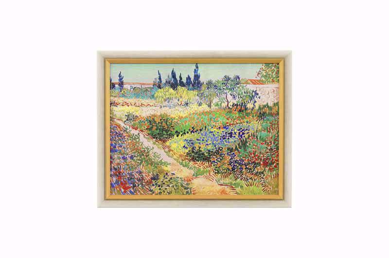 Product afbeelding:  Schilderij 'Bloeiende tuin met pad'