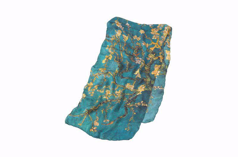 Afbeelding van Vincent van Gogh Zijden sjaal 'Amandelbloesem'
