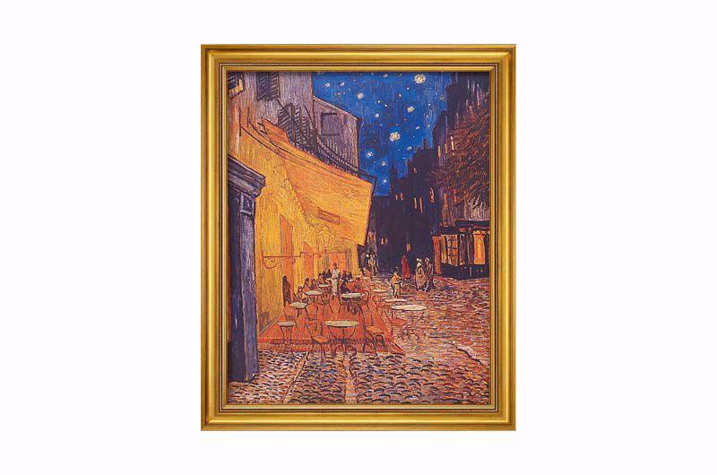Afbeelding van Vincent van Gogh Schilderij 'Caféterras bij nacht'