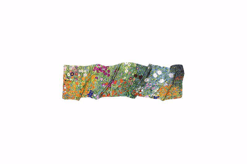 Product afbeelding: Gustav Klimt zijden sjaal Cottagetuin
