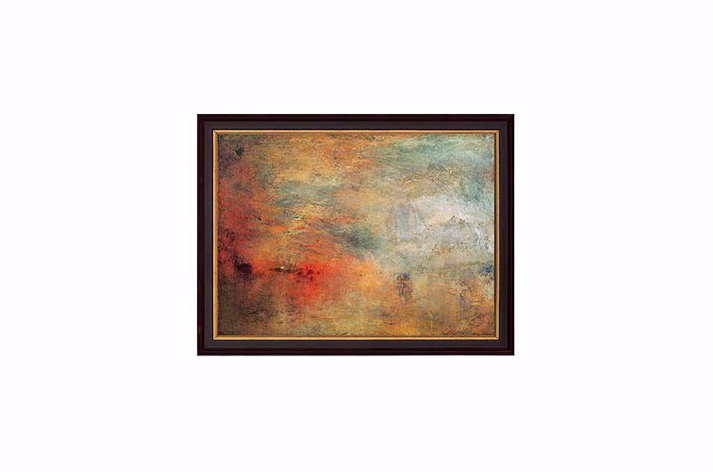 Product afbeelding: Zonsondergang boven een meer