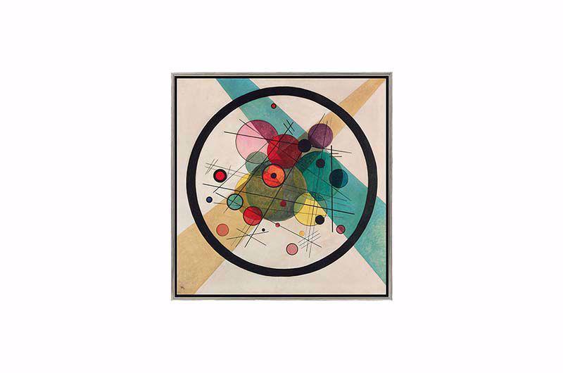 Product afbeelding: Wassily Kandinsky Schilderij 'Cirkels in een cirkel'