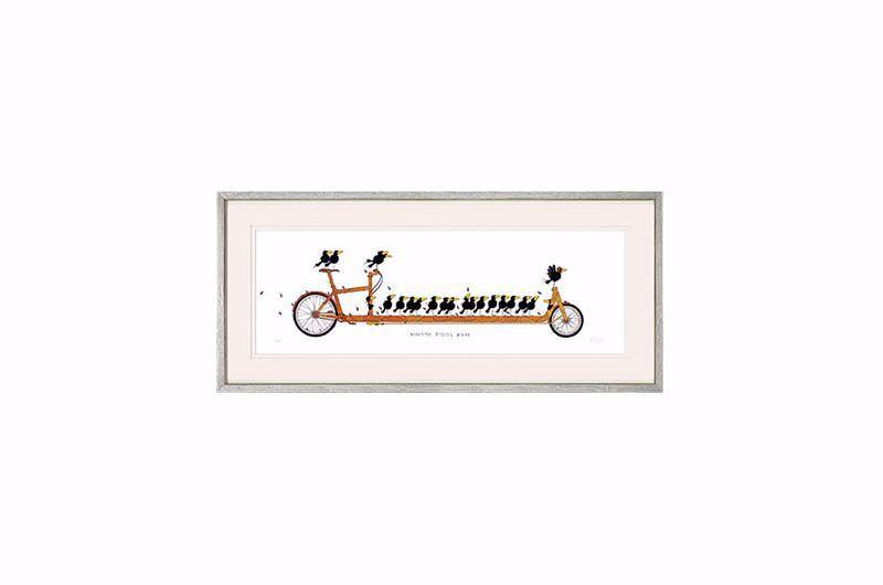 Product afbeelding: Schilderij 'Beautiful Bicycle Birds'