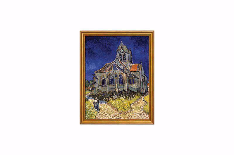 Product afbeelding: Schilderij 'De kerk van Auvers-sur-Oise'