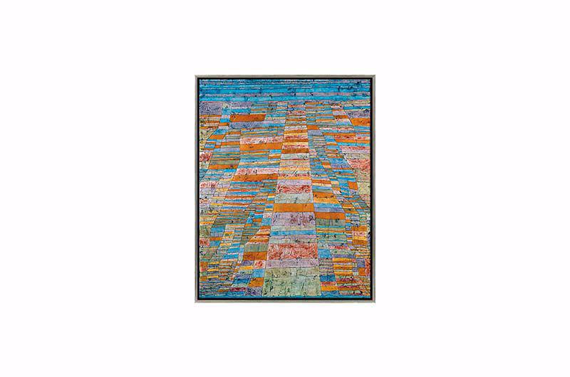Product afbeelding: Paul Klee Schilderij 'Hoofd- en zijwegen'