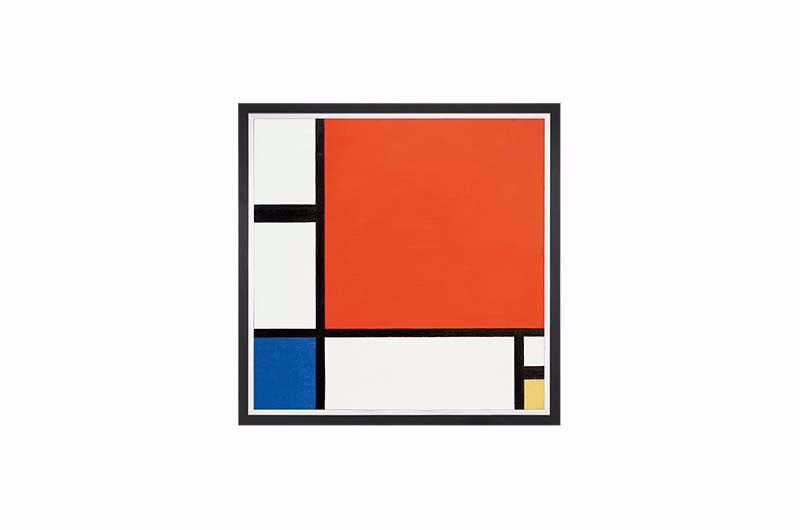 Product afbeelding: Piet Mondriaan Schilderij 'Compositie in rood, blauw en geel