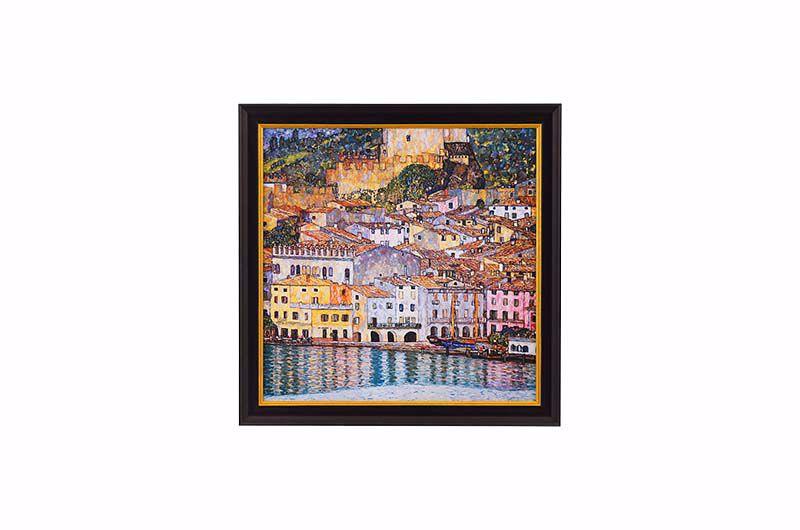 Product afbeelding: Gustav Klimt Schilderij 'Malcesine aan het Gardameer'