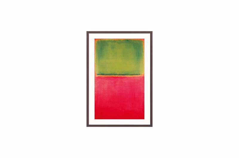 Product afbeelding: Mark Rothko Schilderij 'Groen rood op oranje'