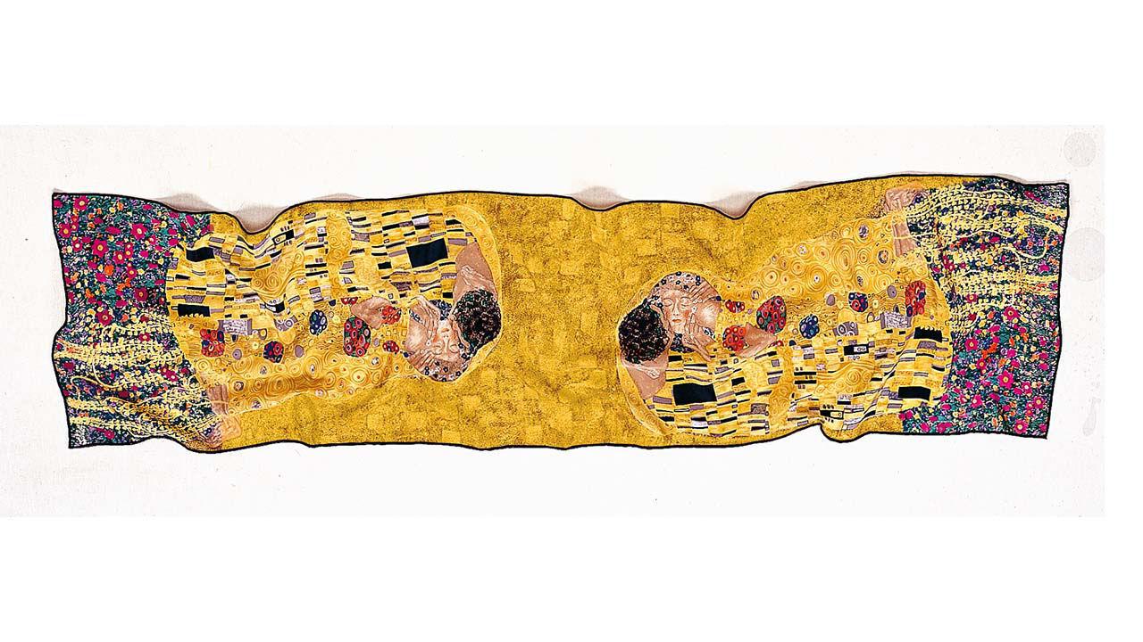 Product afbeelding: Gustav Klimt Zijden sjaal 'De Kus'