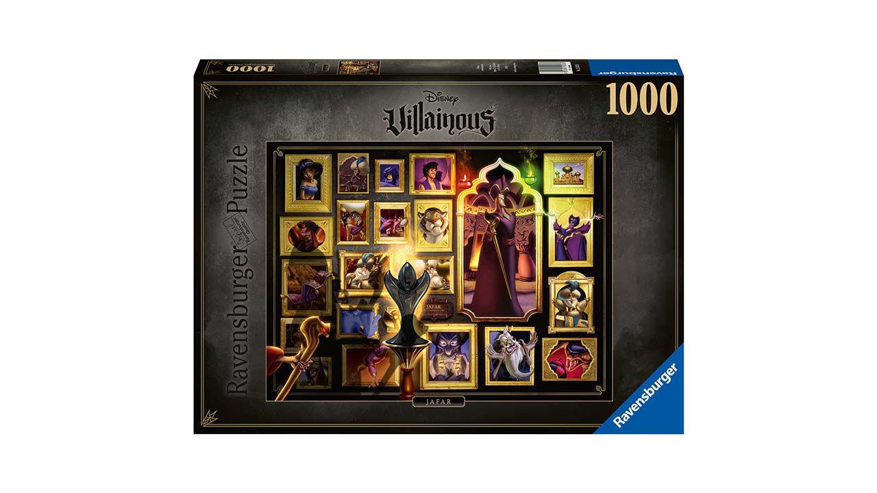 Disney Villainous Jafar legpuzzelVoeg alle stukjes van de puzzel samen en ontdek de prachtige wereld van je favoriete Disney schurken. Kijk hoe gewiekste wegen, griezelige spreuken en duivelse daden zich ontrafelen als elk puzzelstukje op zijn plaats valt. Verzamel ze allemaal! Ontsnap uit de realiteit en stap in de wereld van Ravensburger puzzels. Deze puzzel van 1000 stukjes is geschikt voor zowel beginnende als ervaren puzzelaars. En omdat onze geliefde puzzels een standaard formaat hebben, kun je het resultaat inlijsten en ophangen. Dankzij de met de hand gemaakte stansmessen is de vormvariatie van de stukjes oneindig. Jong en oud zullen genieten van deze Disney Villainous Jafar puzzel met 1000 stukjes. 14 99 jaar | 1000 stukjes *BREAK*