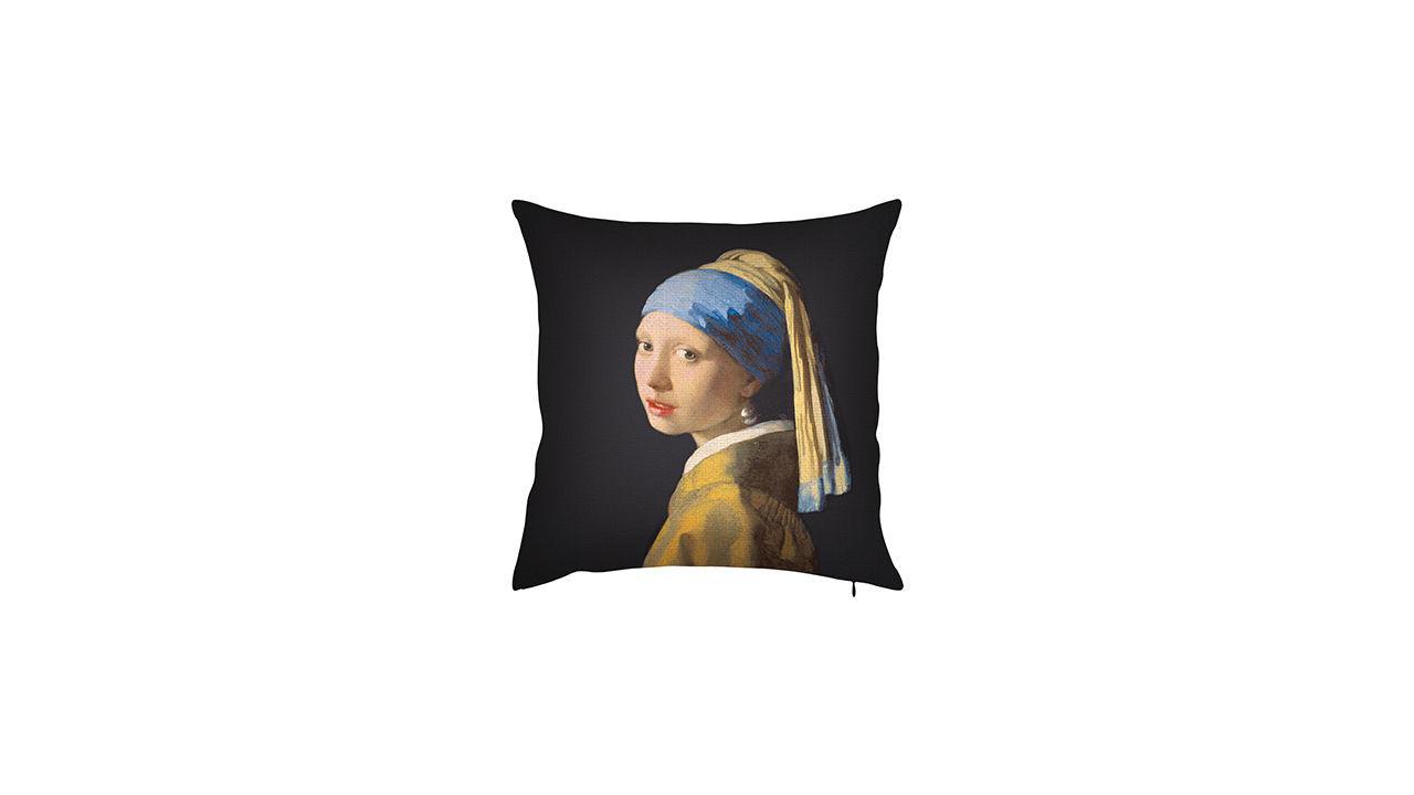 Product afbeelding: Johannes Vermeer Kussenhoes 'Het meisje met de parel'