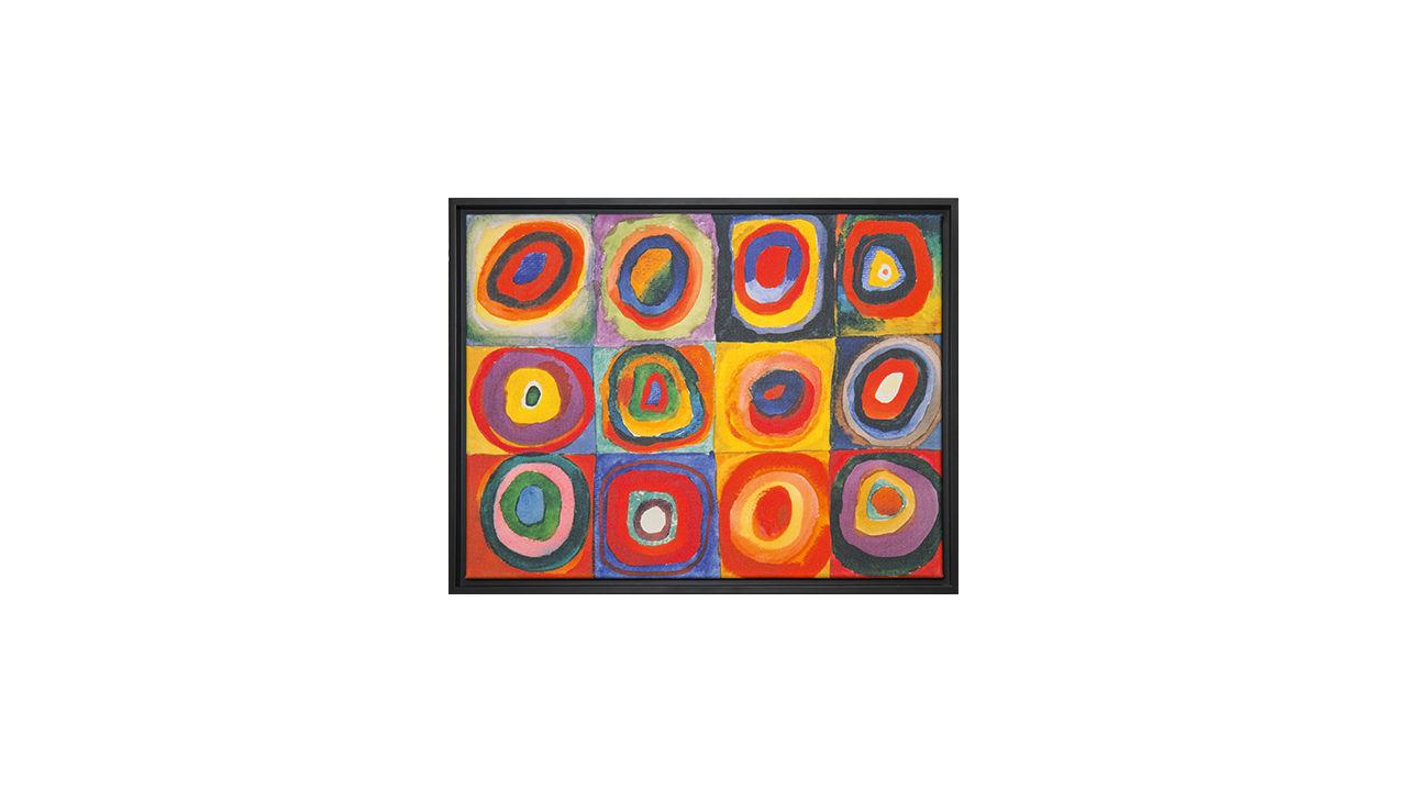 Product afbeelding: Wassily Kandinsky Schilderij 'Farbstudie Quadrate'