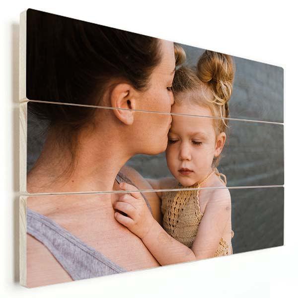 Korting Foto op houten plank