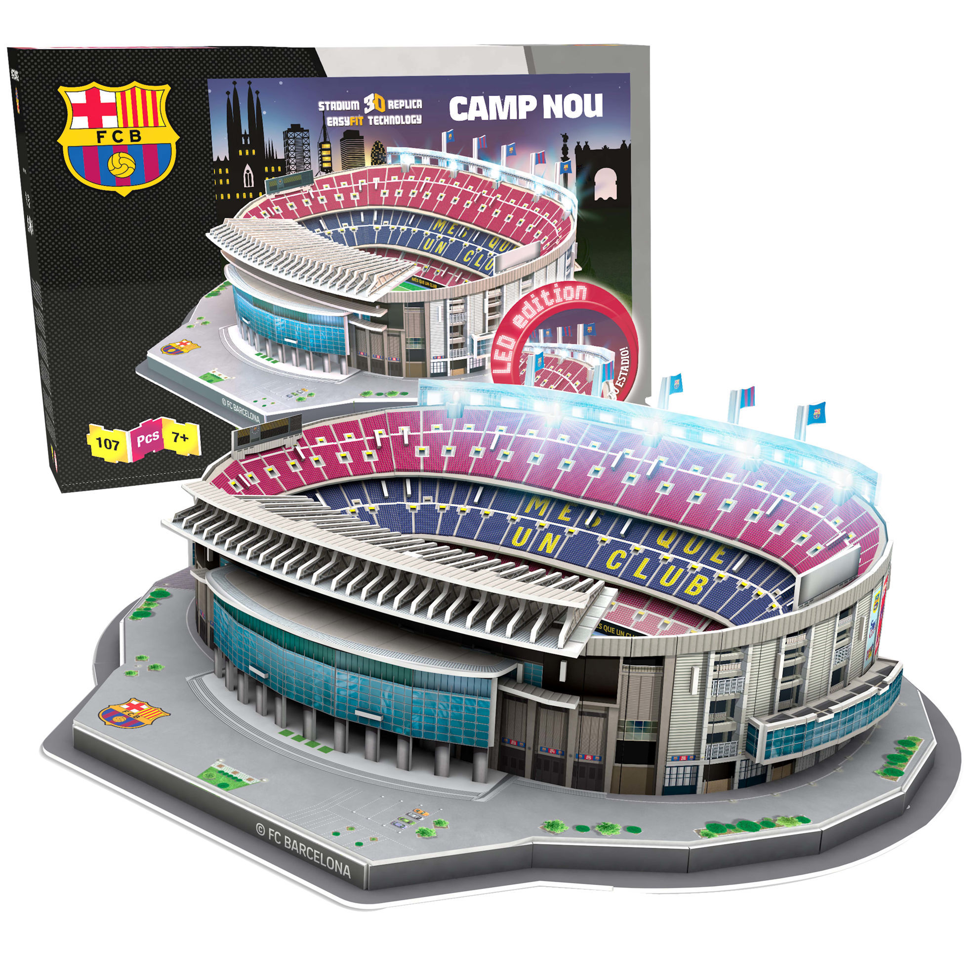Product afbeelding: FC Barcelona LED 3D puzzel