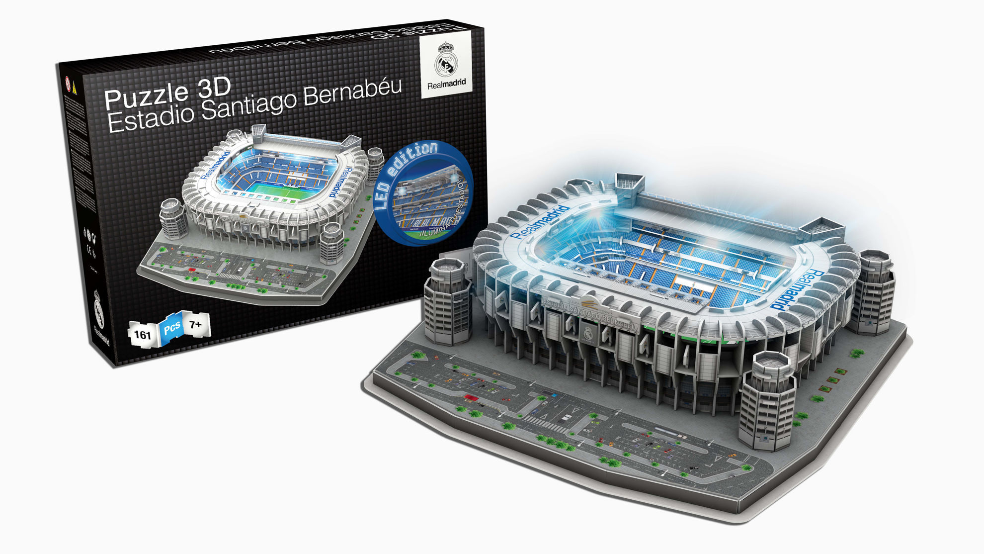 Product afbeelding: Real Madrid LED 3D puzzel