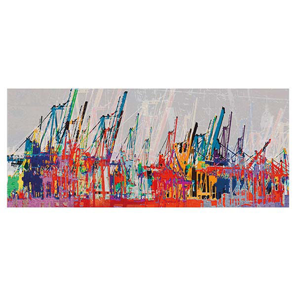 Product afbeelding: Asghar Keyhanian Schilderij 'Haven'