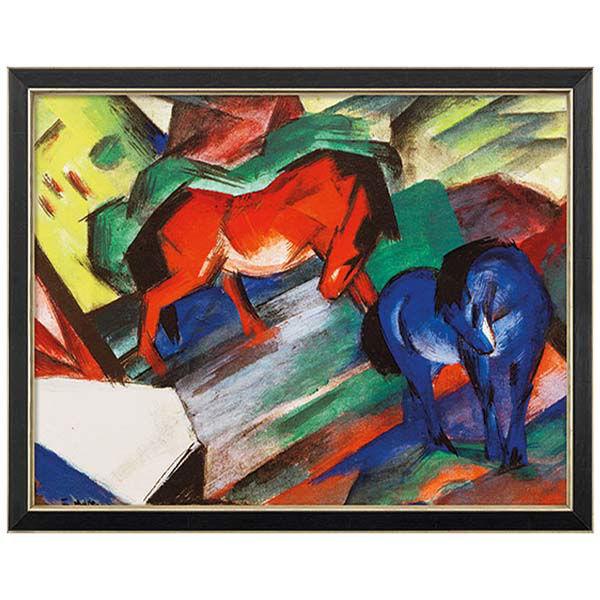 Product afbeelding: Franz Marc Schilderij 'Rood en blauw paard'