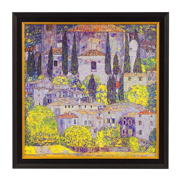 Product afbeelding: Gustav Klimt Schilderij 'Kerk in Cassone aan het Gardameer'
