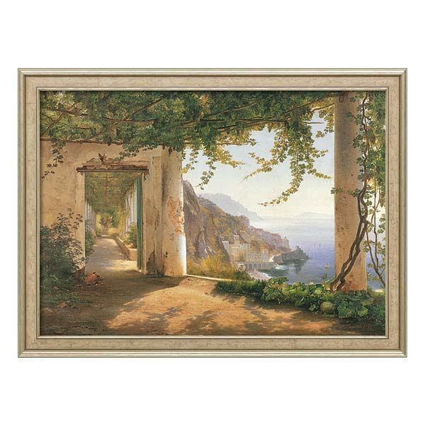 Product afbeelding: Carl Frederic Aagaard Schilderij 'Uitzicht op de kust van Amalfi'