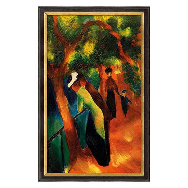 Product afbeelding: August Macke Schilderij 'Zonnige weg'