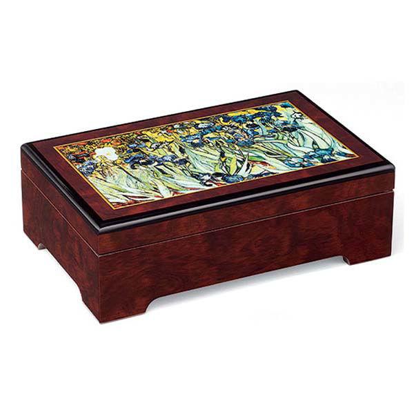 Product afbeelding: Vincent van Gogh Sieradendoos 'Irissen'