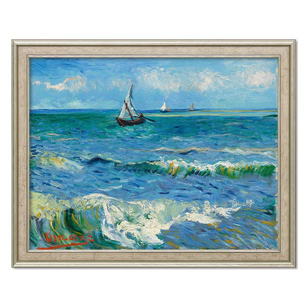 Product afbeelding: Vincent van Gogh Schilderij 'Zeegezicht bij Les Saintes-Maries-de-la-Mer'
