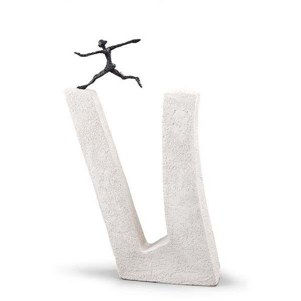 Product afbeelding: Sculptuur 'Wie niet waagt…'