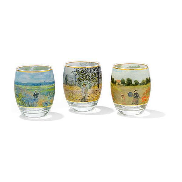 Product afbeelding: Claude Monet 3 theelichtglazen met kunstmotieven