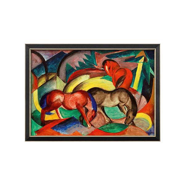 Product afbeelding: Franz Marc Schilderij 'Drie paarden'