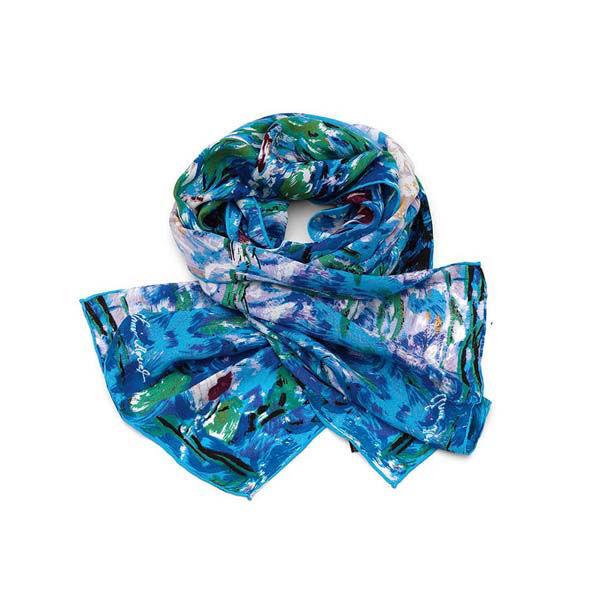 Product afbeelding: Zijden sjaal 'Waterlelies'