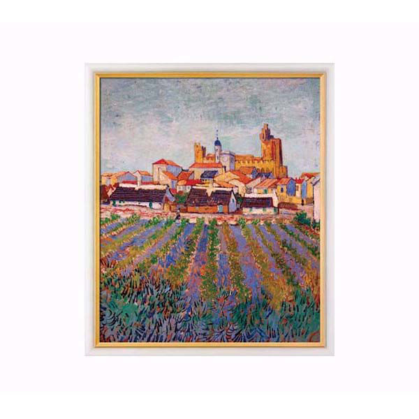 Product afbeelding: Vincent van Gogh 'Gezicht op Saintes-Maries-de-la-Mer'
