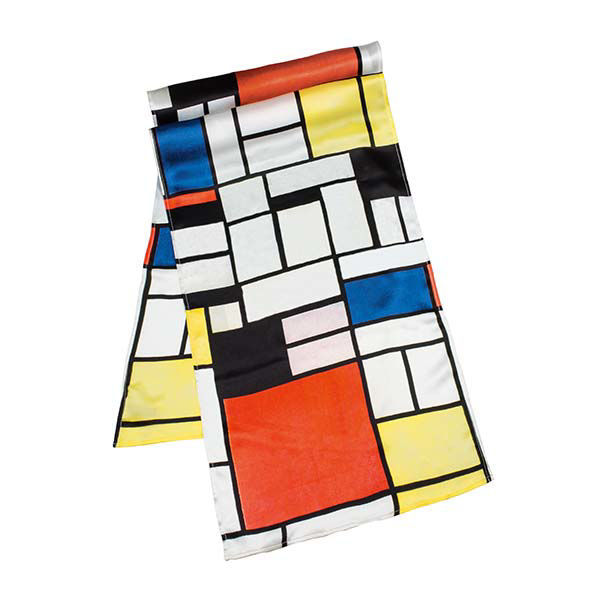 Product afbeelding: Petra Waszak Zijden Sjaal 'Mondriaan'