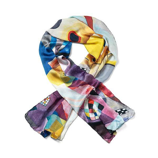 Product afbeelding: Wassily Kandinsky Zijden Sjaal 'Geel – Rood – Blauw'