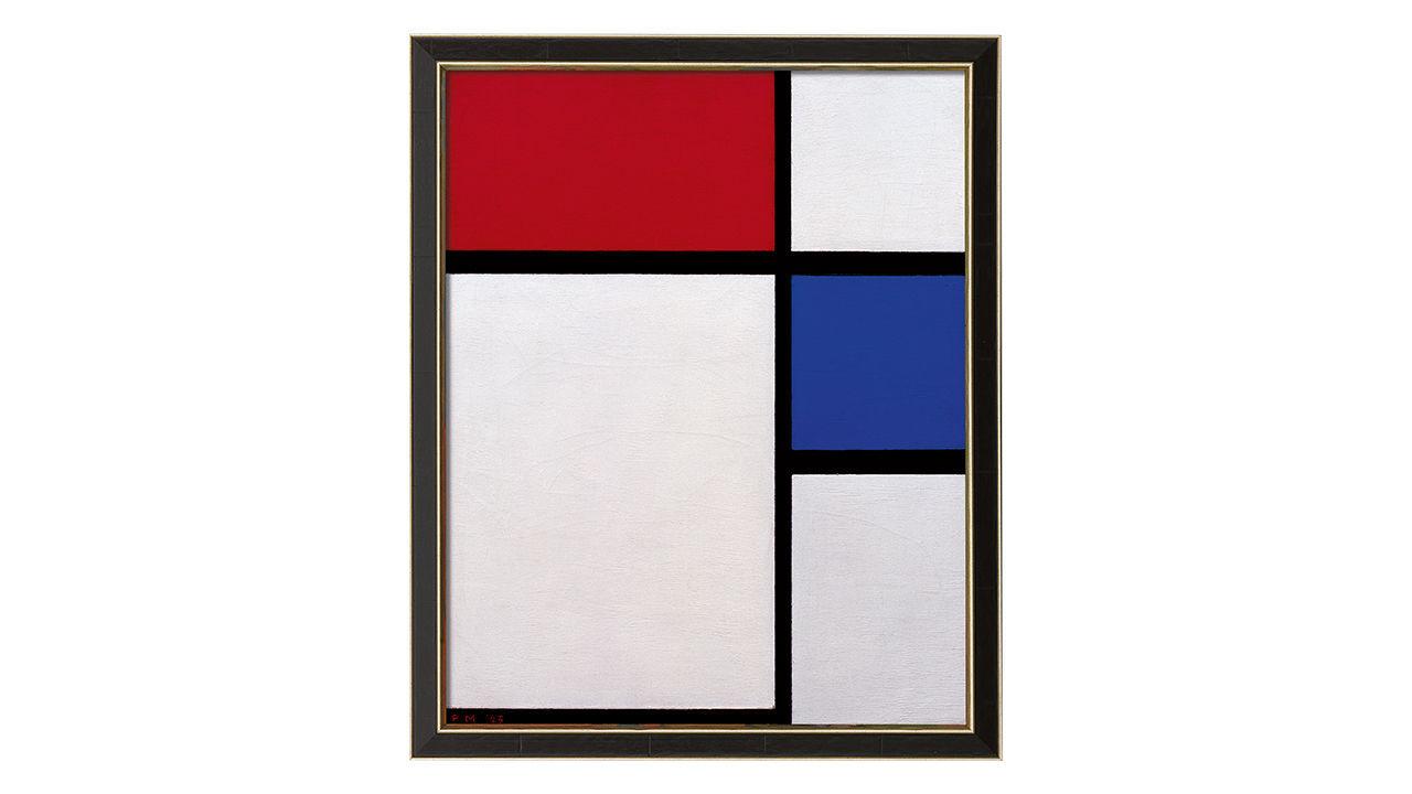 Product afbeelding: Piet Mondriaan Schilderij 'Compositie nr. II, met rood en blauw'
