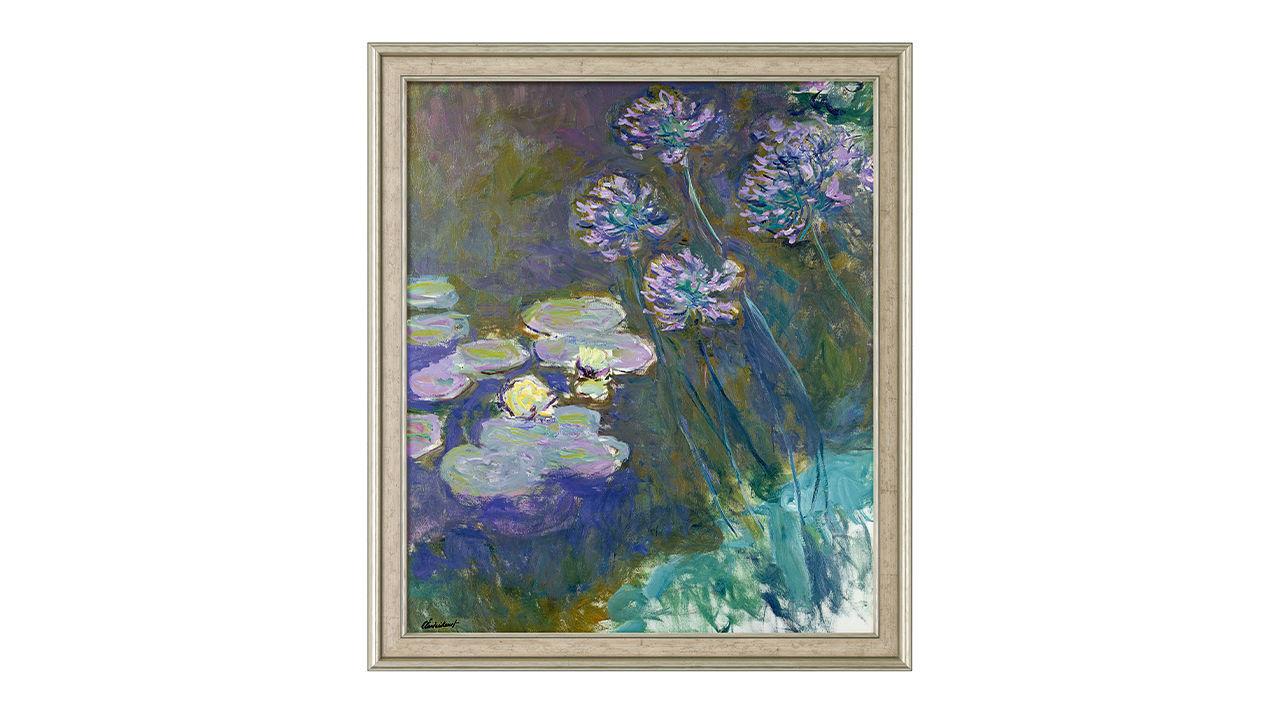 Product afbeelding: Claude Monet - 'Gele waterlelies en agapanthus'