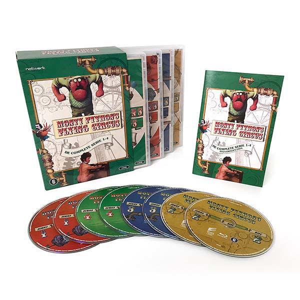 Product afbeelding: Monty Python's Flying Circus dvd-box - seizoen 1 t/m 4