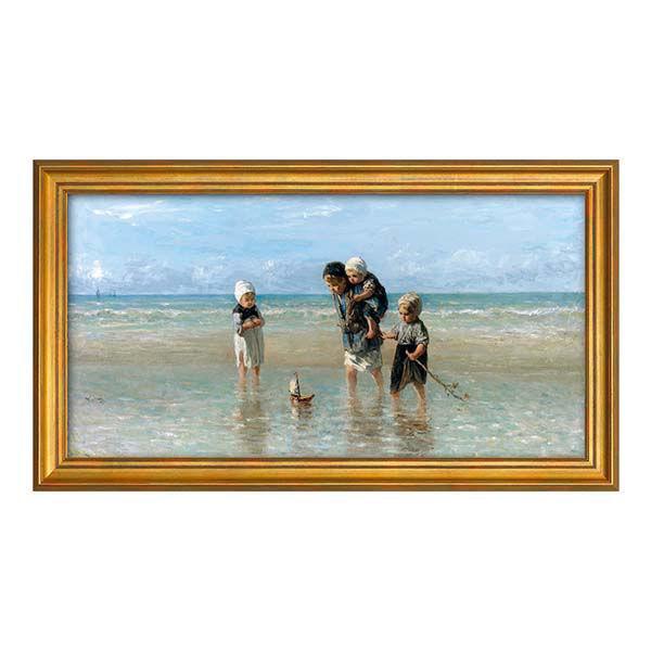 Product afbeelding: Jozef Israëls schilderij 'Kinderen der zee'