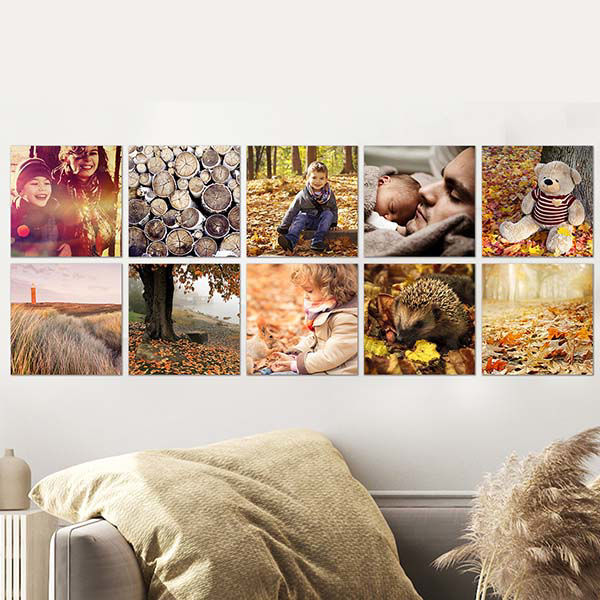 Korting 4x Vierkante foto