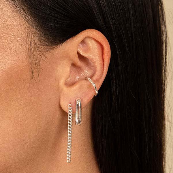 Korting Eline Rosina Musthaves oorbellen Zilver